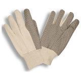 Черный Dotts Canvas рабочие перчатки с ребрами манжеты