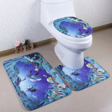 Циновки ванны туалета ливня ванной комнаты пены памяти ватки толщиной фланели плюша многоточий польки притока плюша мягкой Coral