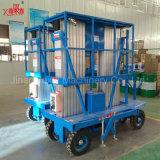 工場販売のための直売300kg新しいデザインアルミ合金の油圧移動式二重マスト作業プラットホーム