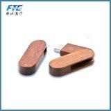 Movimentação de bambu do flash do USB da vara de madeira feita sob encomenda do USB para o presente relativo à promoção