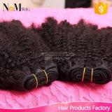 信頼された100%の加工されていない卸し売り安い価格のねじれた巻き毛のバージンのマレーシアの毛の束