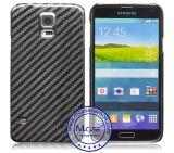 중국 공급자 셀룰라 전화 부속품 Samsung 은하 S5를 위한 실제적인 탄소 섬유 덮개