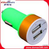 Handy-Gerät 2 USB-Adapter bereifte Auto-Aufladeeinheit Doppel