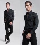 Nouveau design Slim Fit Manchon long bouton vers le bas robe col chemise pour hommes