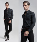 Menのための新しいDesign Slim Fit Long Sleeve Button Down Collar Dress Shirt