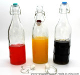 熱い販売法の食品等級1Lはシーリングふたが付いているガラス飲料ジュースのびんを取り除く