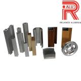 Profilo di legno del grano espulsione di alluminio/di alluminio per il blocco per grafici di portello e della finestra