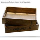 Коробка сосенки деревянная для вина упаковывая с высоким качеством