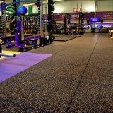 Mattonelle di pavimentazione di gomma di ginnastica antisdrucciolevole di forma fisica