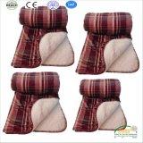 Ново! Толщиное одеяло Sherpa одеяла и фланели хода Knit кабеля шерстей, одеяло с Tassel