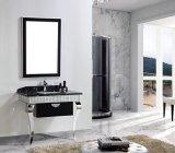 Mobilia bianca della stanza da bagno dell'acciaio inossidabile