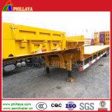 Phillaya 60 Toneladas 80 Toneladas 4 Eixos semi reboque Cama Baixa para veículos pesados de transporte da máquina
