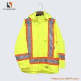 冬の高い可視性の反射縞のWorkwearの均一交通安全のジャケット