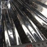SGCC el recubrimiento de zinc galvanizado pintado la hoja de impermeabilización de cubiertas de acero corrugado