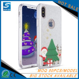 Telefon-Kasten des Schneemann-Funkeln-Puder-TPU für iPhone X