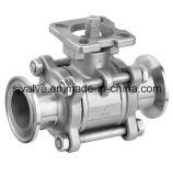3 조각 ISO5211와 클램프 볼 밸브