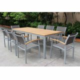 High Quality Outdoor Patio Furniture Set Aluminum Powder Coating Garden Dining Counts Flesh with Sling Back (1+6)