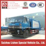 압축성 쓰레기 트럭 고품질 12 Cbm Dongfeng 졸작 컴퓨레스 패물 쓰레기 압축 분쇄기
