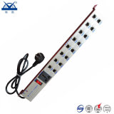 Unità della protezione di impulso del segnale RJ45 della rete di potere degli zoccoli dell'alluminio 16
