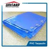 510GSM 15oz materia prima PVC azul rollo de lona