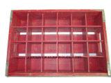 Gekerbt 24 Glasflaschen-Träger-Rahmen-Kasten-Koks-rotem großem Zustand