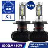 H13 LED 빛과 숨겨지은 장비를 가진 가장 새로운 디자인 8000lm H4 자동 헤드라이트