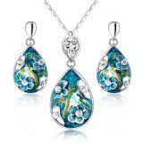 Reeks van uitstekende kwaliteit van de Juwelen van de Vrouwen van het Email de Witgoud Geplateerde