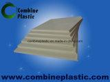 Ivory weiße Plastikvorstand Belüftung-Waschraum-Tür
