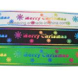 Fita da impressão do Grosgrain para o Natal