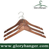 Antidérapant en bois de noyer Vêtements Vêtement Hanger avec épaules cranté