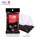 10 ПК кожаную обувь и уход и чистка подушек безопасности одноразовых влажных салфеток