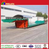 Tri mécanique de l'Essieu de Suspension de remorquage Cimc faible lit semi-remorque pour transporter de l'excavateur