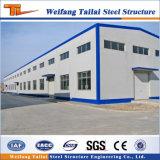 Venda a quente e económica a estrutura metálica do prédio de depósito de oficina