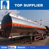 Acoplados del petrolero del acero inoxidable de los carros de petrolero del petróleo de los acoplados del tanque de agua del titán semi