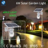 Todos en una luz de la noche de la pared del jardín del sensor solar