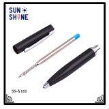 Crayon lecteur de papeterie de promotion d'approvisionnement de stylo bille en métal