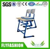 Étudiant bureau et chaise à deux places Bureau en bois en métal et en bois