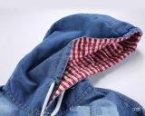 Camice incappucciate della lavata del candeggiante del denim di 100%Cotton degli uomini