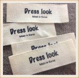 Etiqueta tejida ropa de encargo del escritura de la etiqueta/conocida/escrituras de la etiqueta tejidas ropa