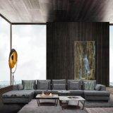 Gris Grande sofá de tela para muebles de salón
