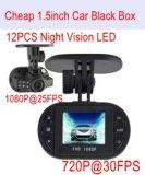 Venta caliente m FHD el coche DVR 1080P con G-Sensor, visión nocturna, 5.0Mega cámara del coche DVR-1501