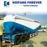 3eixos 40/50/55cbm navio tanque de cimento a granel de materiais em pó semi reboque