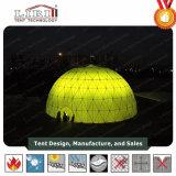 異なったサイズ屋外のイベントおよび祝祭のための半分の球形ドームスクリーンのテント
