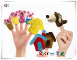 8PCS 이야기 시간 핑거 괴뢰 - 3개의 작은 돼지 교육 괴뢰