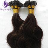 Estensione piana dei capelli di punta del Brown del corpo della cheratina ondulata di colore