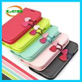 フリップチェリーPUのiPhone 7/6s/6のための革カードスロットの電話箱