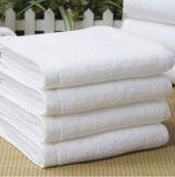 Shanghai DPF textil al por mayor 100% de la toalla de algodón Terry White usó para Hotel