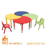 Children Play School Kindergarten Height Adjustable Desk with Flesh
