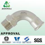 Haut de la qualité de la plomberie sanitaire de la Chine Gunagzhou inox acier inoxydable 304 316 Coude à filetage mâle