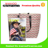 2016 Groot Katoenen Eco Canvas Dame Supermarket Shopping Promotional Bag met 210d binnen Polyester